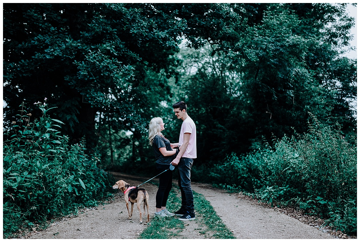 Vicky & Matthew on their pre-wedding in Holmes Chapel