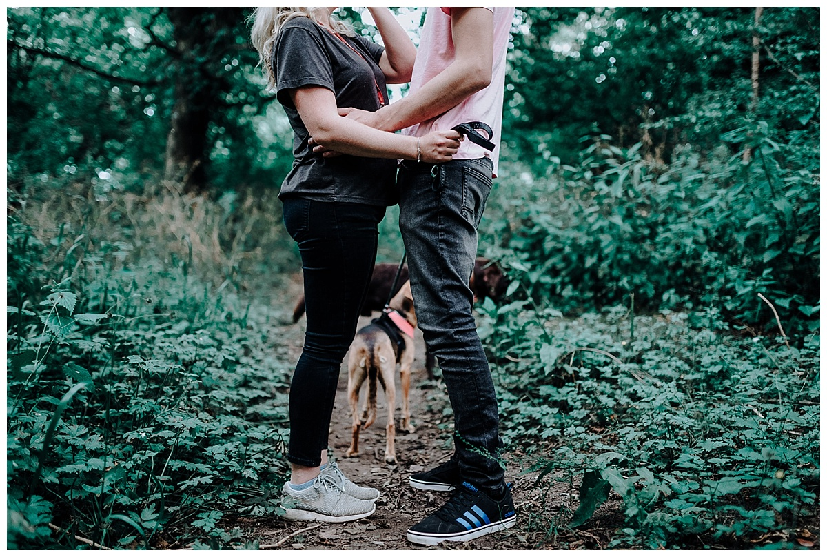Vicky & Matthew's legs on their pre-wedding session