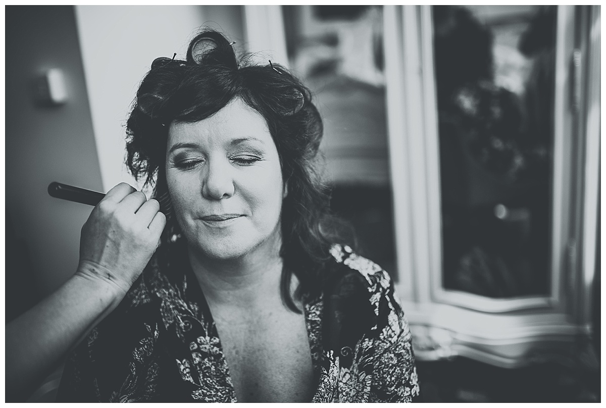 Allison having her makeup applied at Great John Street Hotel