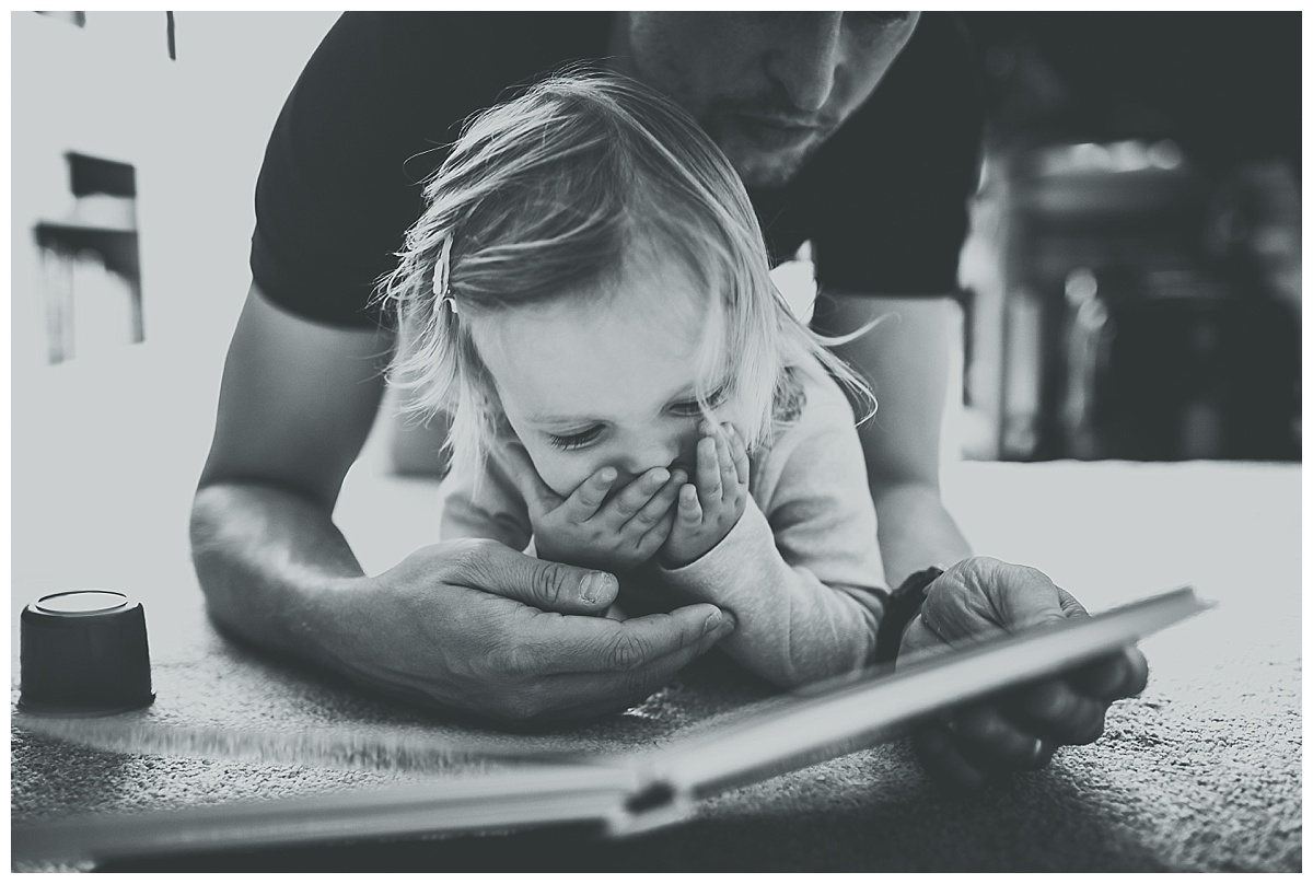 Florence and Daddy reading a book
