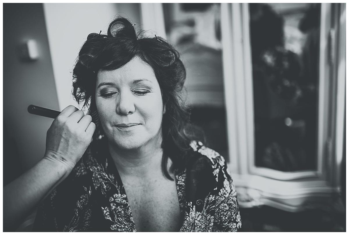 Allison having her makeup applied at Great John Street Hotel