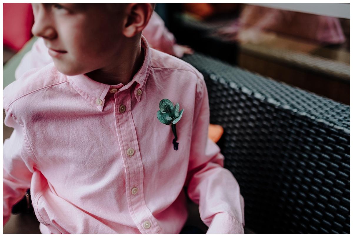 Little buttonhole on Ralph Lauren shirt