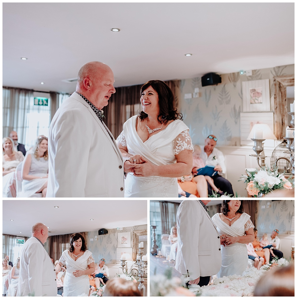 Carl & Allison saying their vows at their wedding at Great John Street Hotel