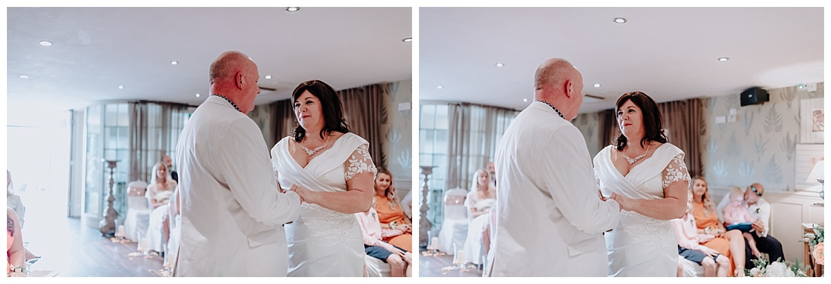 Carl & Allison at their wedding ceremony in Manchester