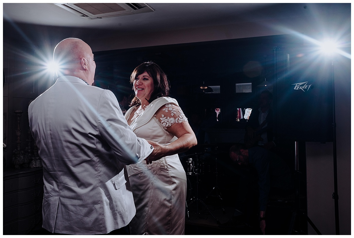 Allison onfirst dance on her wedding day at Great John Street Hotel