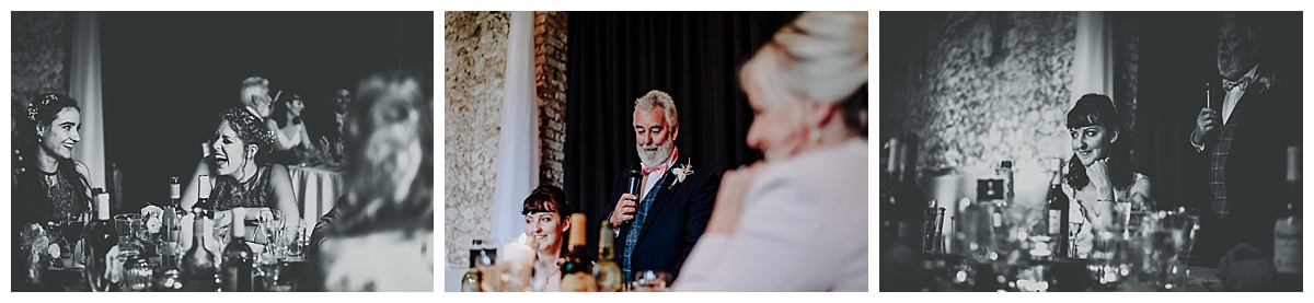 Holly's father giving his speech at Monks Barn in Berkshire