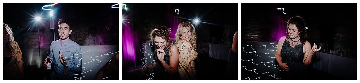 Bridesmaids dancing at Holly and Gregs wedding at Monks Barn