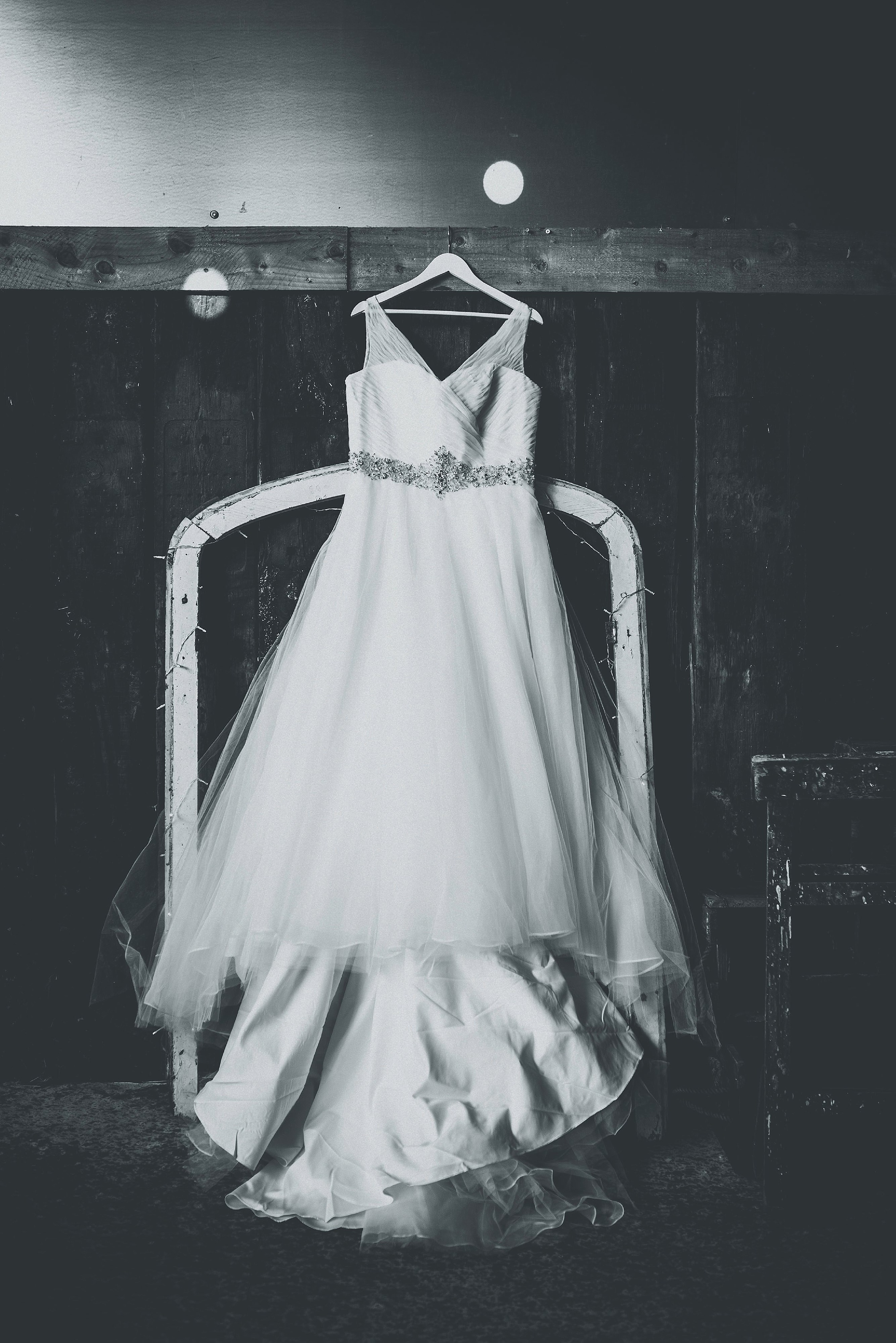 Wedding Dress at a Cheshire Barn Wedding