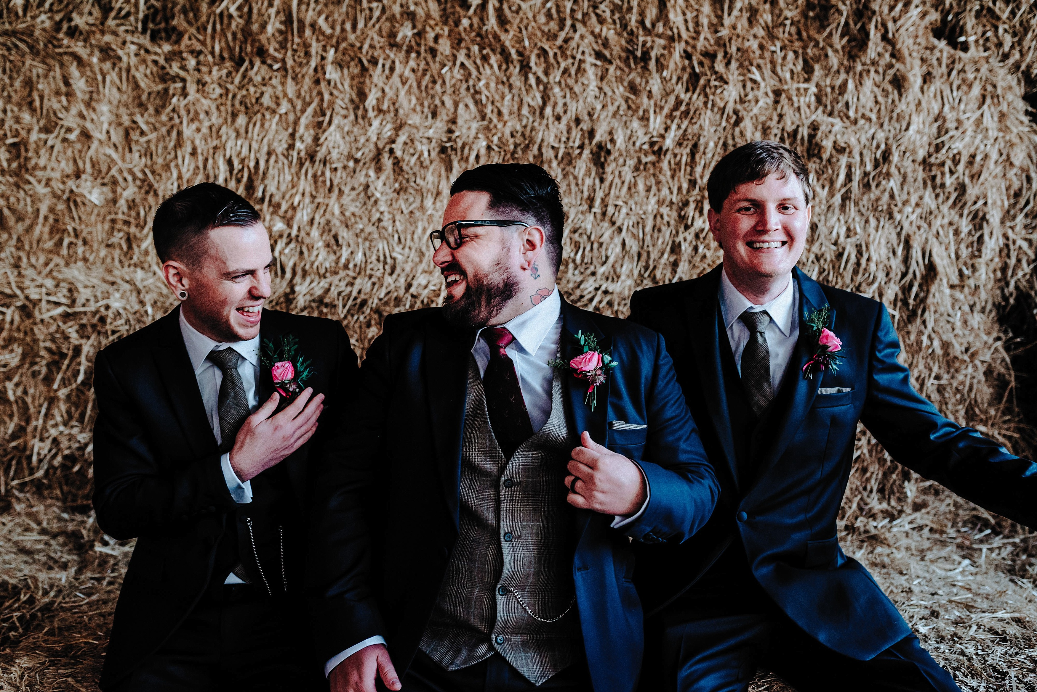 Groomsmen at Cheshire Barn Wedding