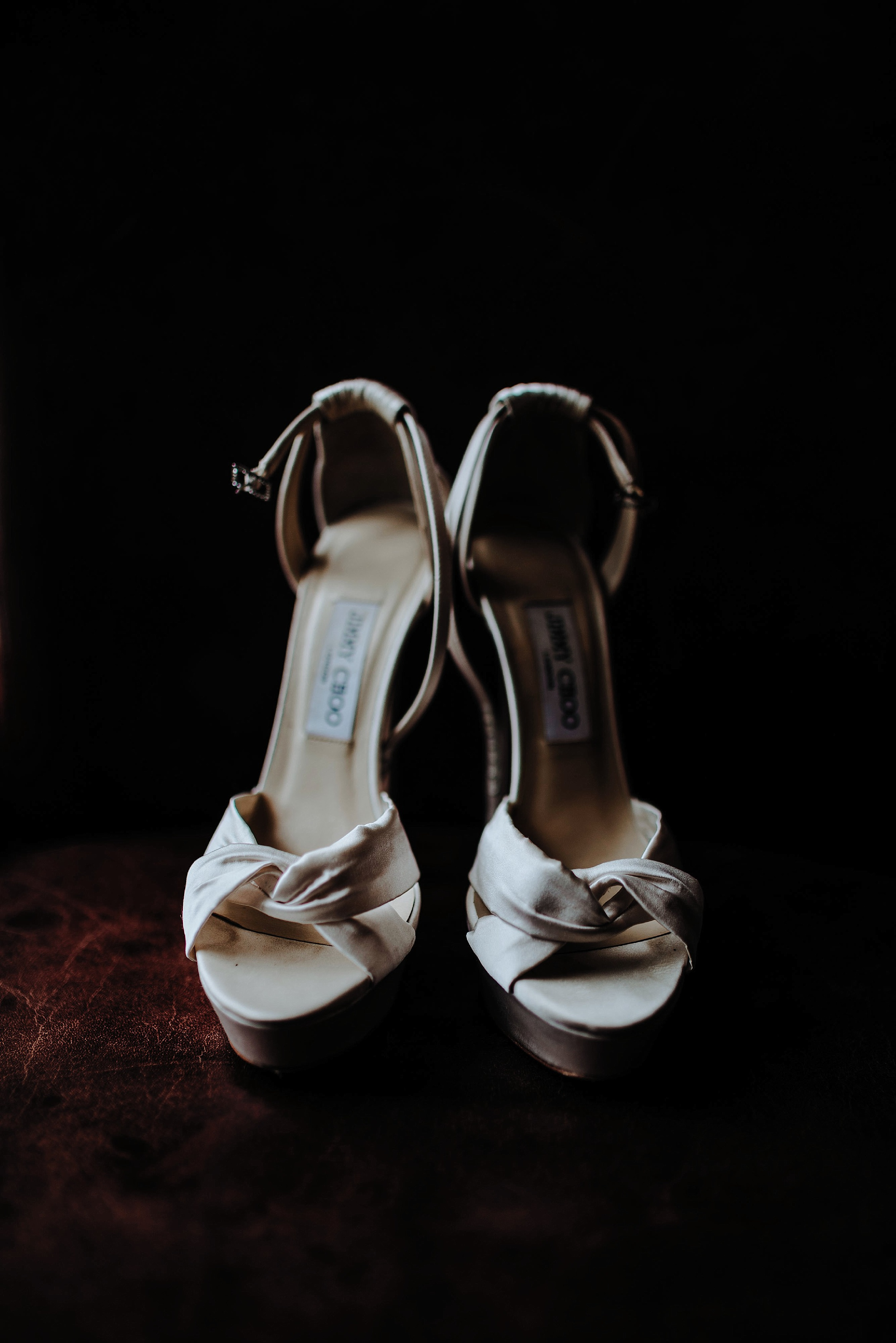 Jimmy Choo heels at a Scottish Wedding