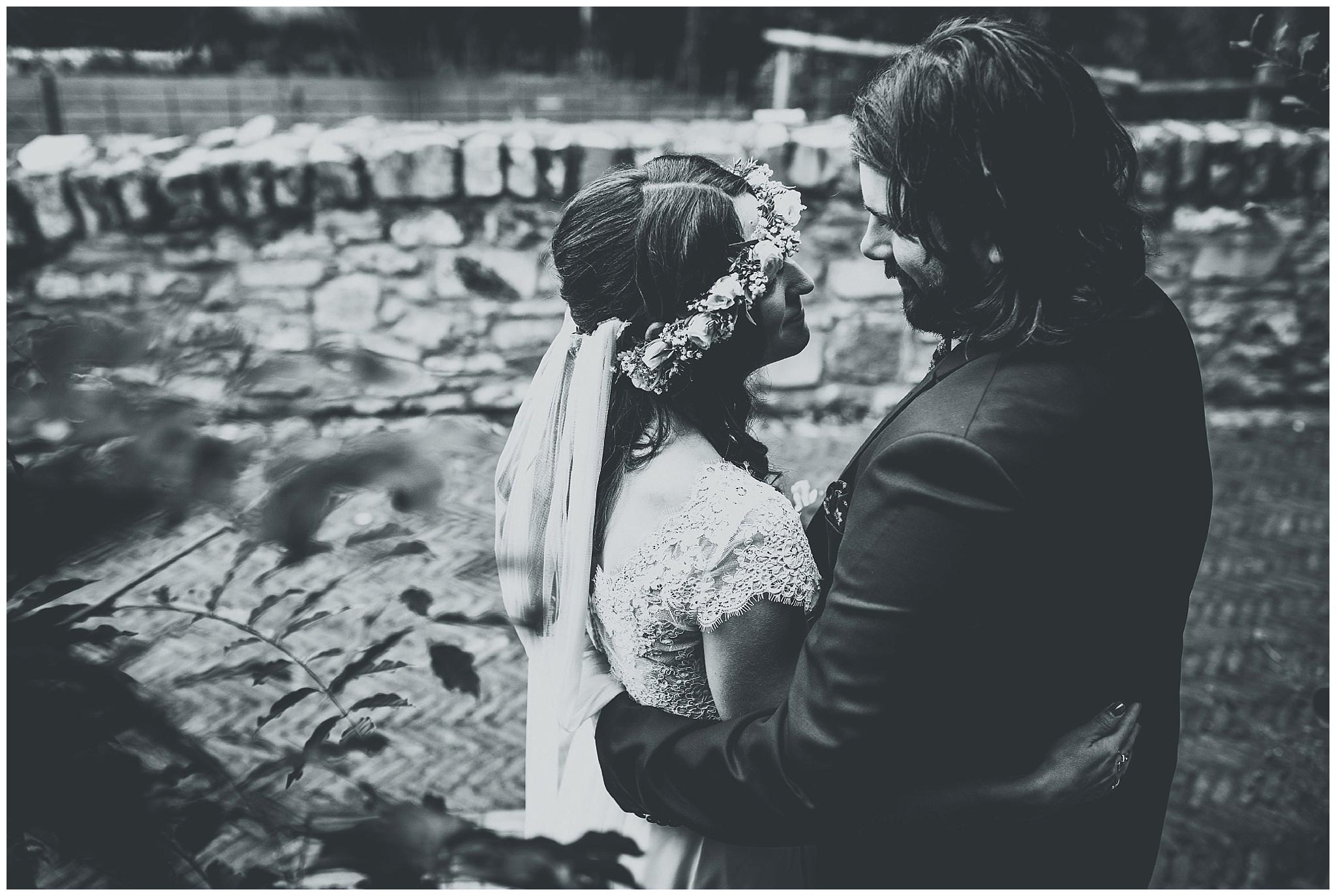 Bride and Groom at Bodnant Welsh Food Centre