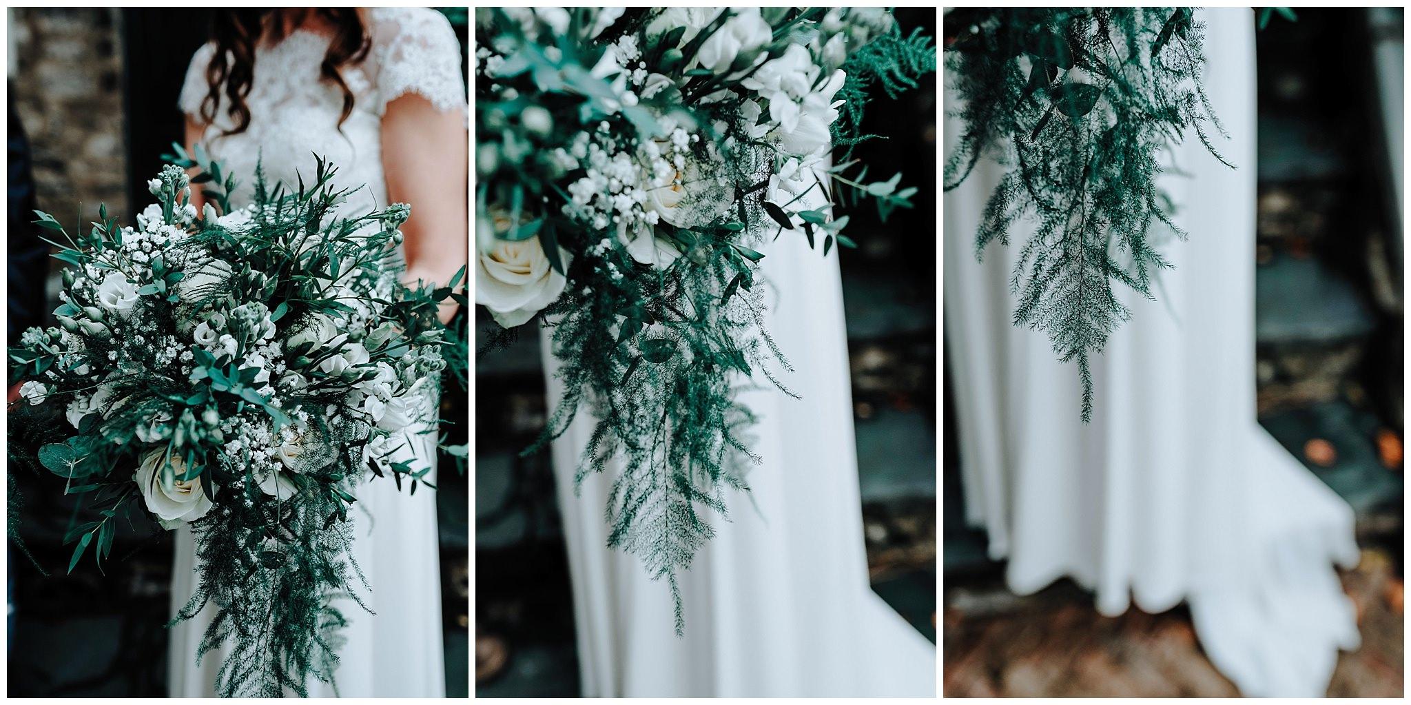Brides bouquet at Bodnant Welsh Food Centre