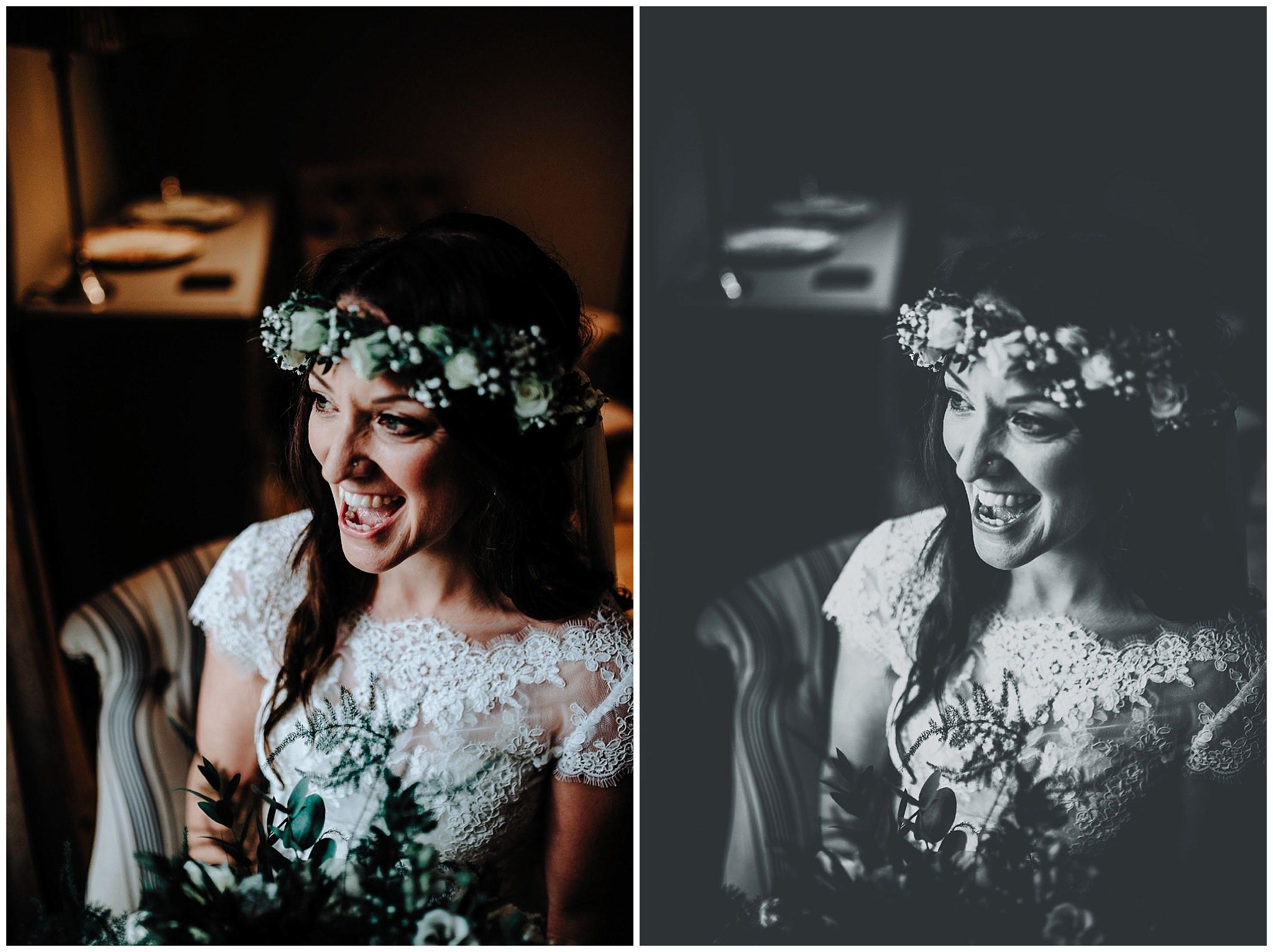 Bridal portraits at Bodnant Welsh Food Centre
