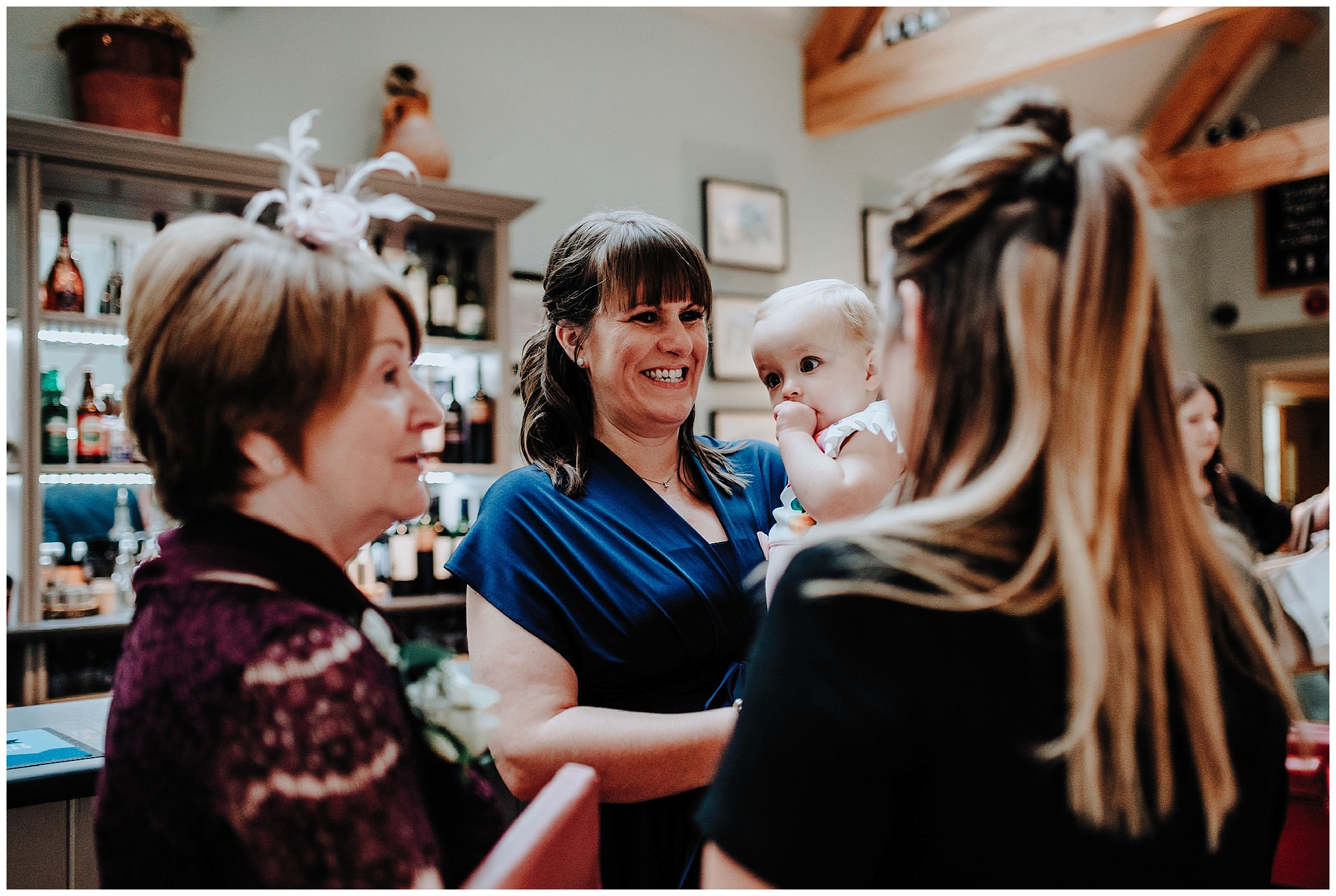 Guest smiling at Bodnant Welsh Food Centre