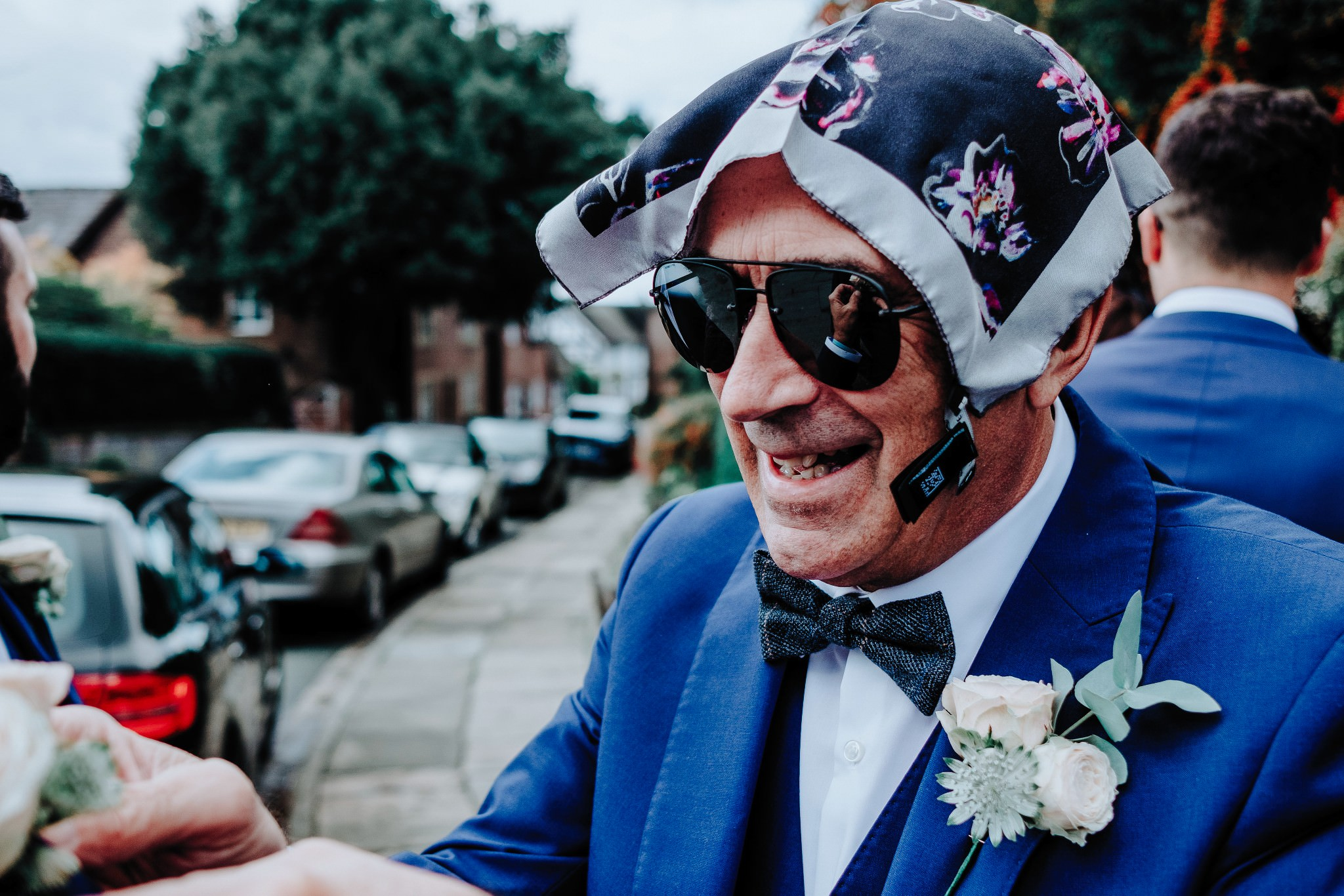 Father of the bride at Cheshire Barn Wedding