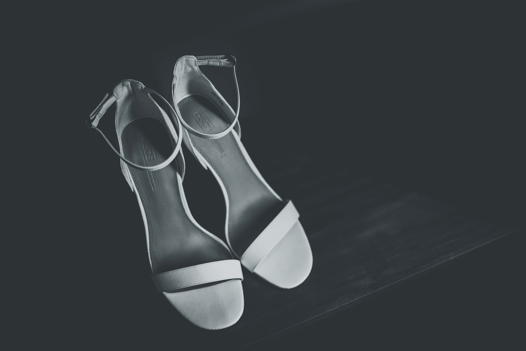 Bridal heels at Cheshire Barn Wedding