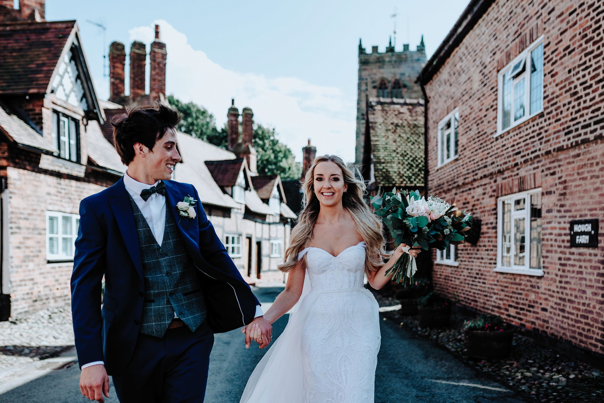 Bride and Groom portrait in Great Budworth in Cheshire