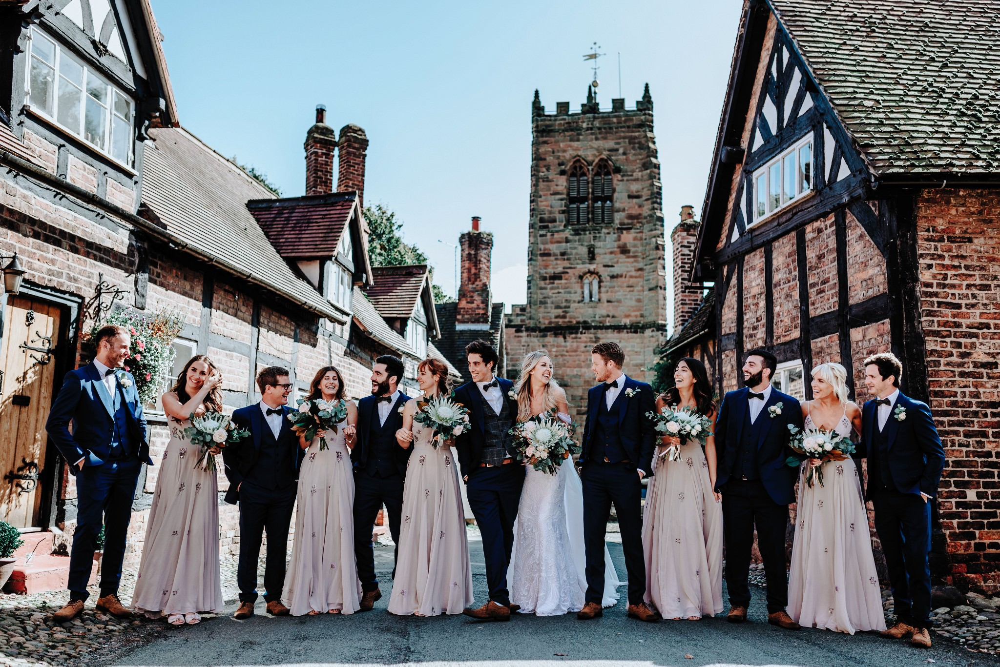 Bridal party at Cheshire Barn Wedding