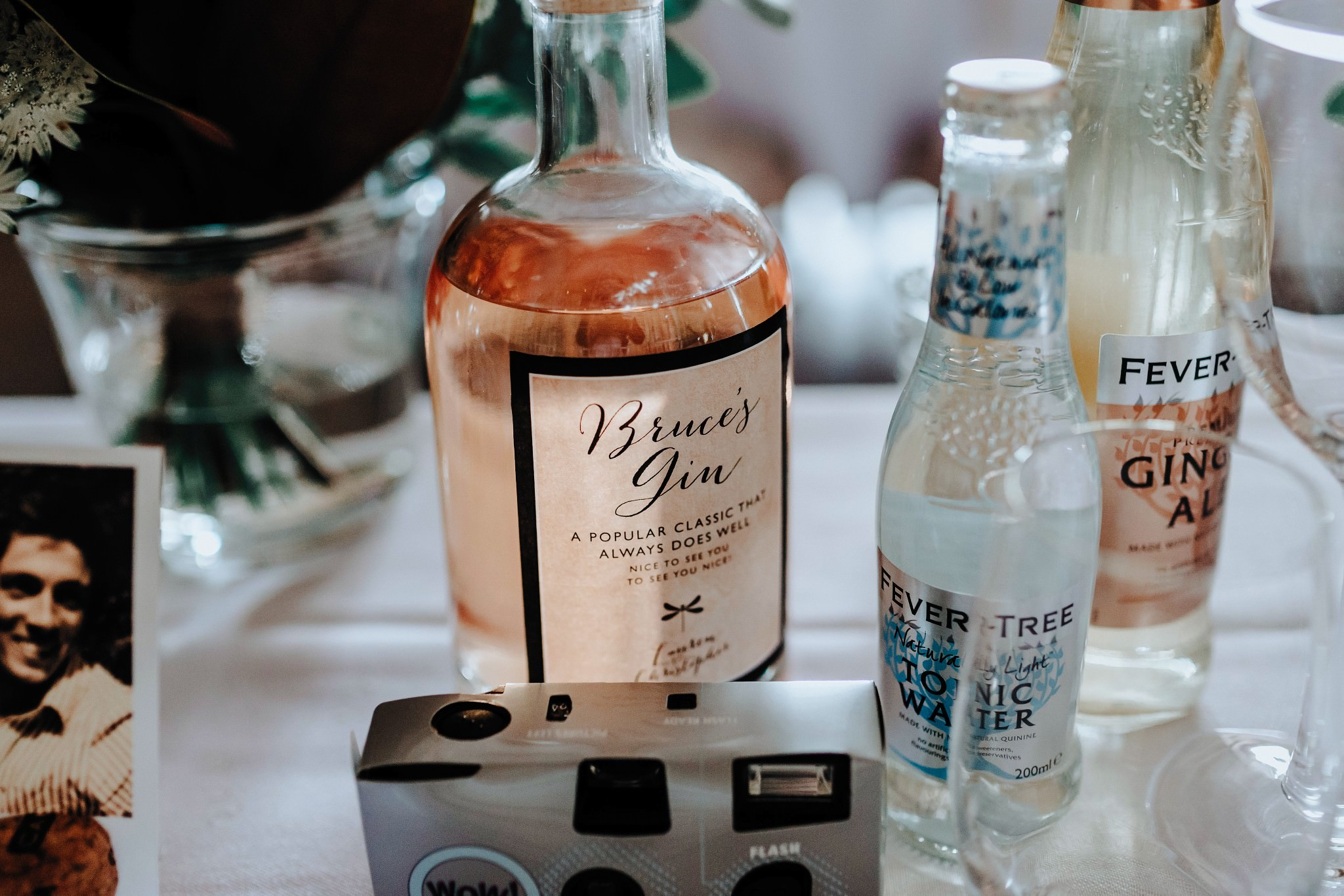 Gin at Cheshire Barn Wedding