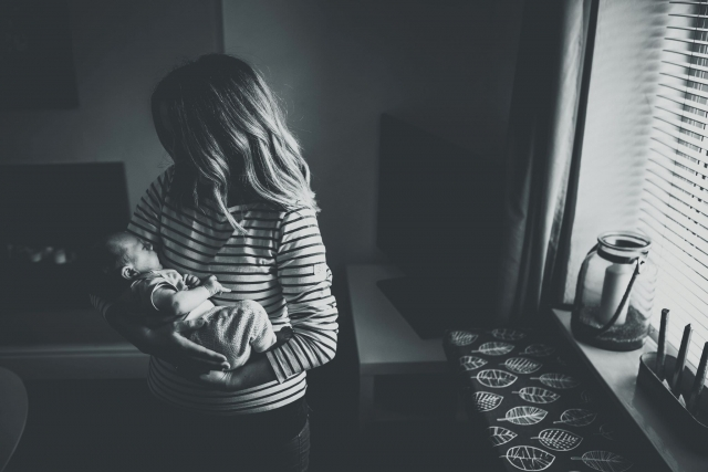 Newborn with Mum at a Lifestyle Family Photography Session