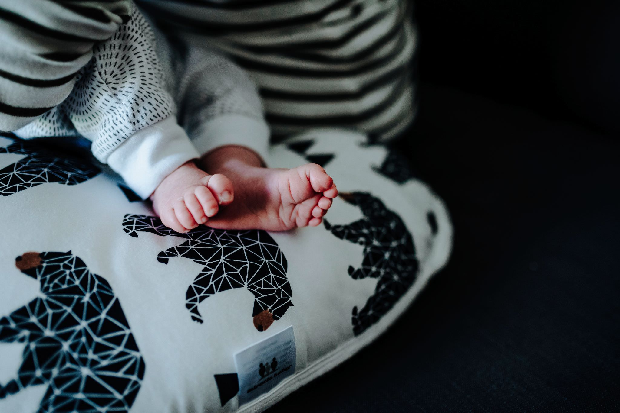Newborn feet at a Lifestyle Family Photography Session