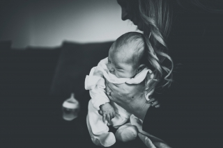 Newborn with Mum at a Cheshire Lifestyle Family Photography Session