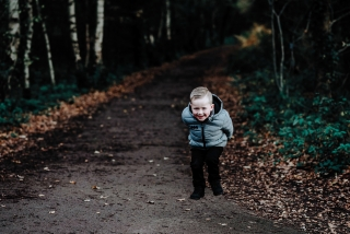 Little boy jumping at a Cheshire Family Photography Session