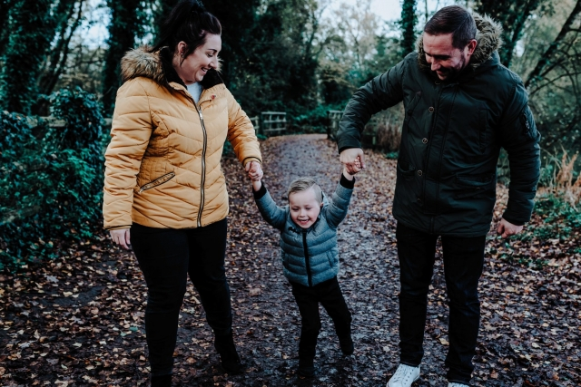 Dad, Mum and Son at a Cheshire Family Photography Session