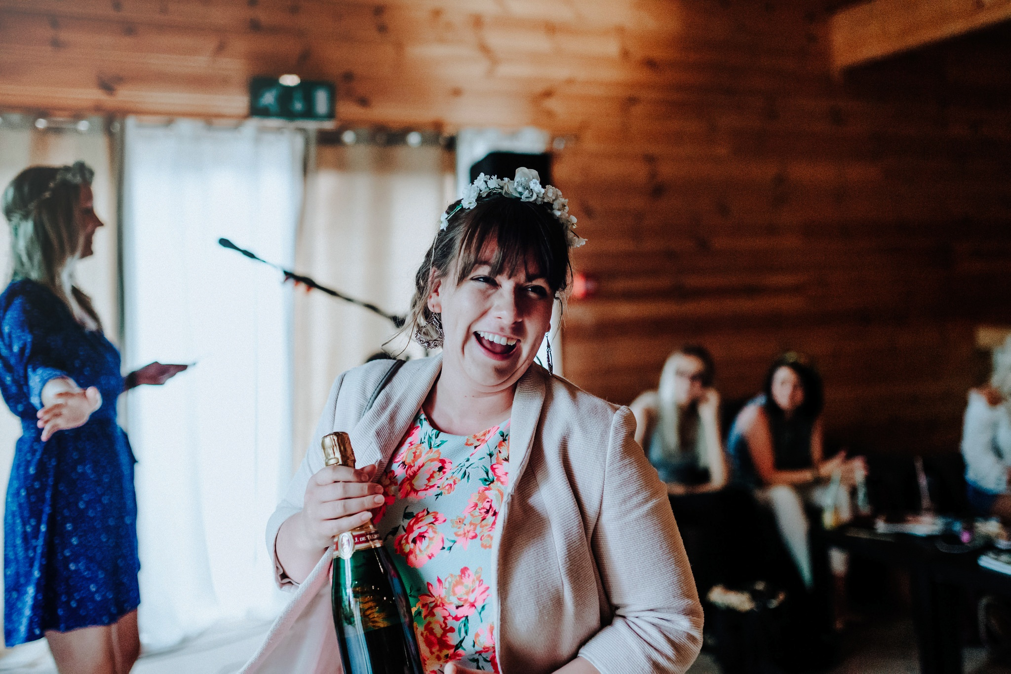 Bride to be winning a prize at Styal Lodge Bridesmaid Brunch