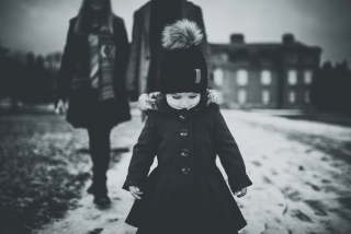 Little girl at a winter Cheshire Photography Session