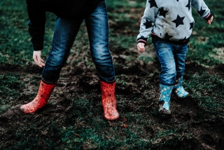 Wellies at a Cheshire Photography Session